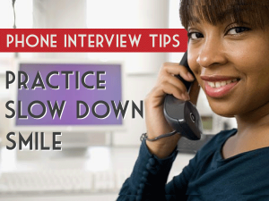 Picture of a phone interview