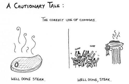 funny meme about commas