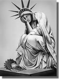 sad Statue of Liberty