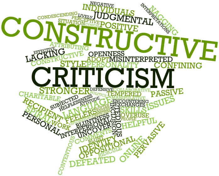 "word cloud of ""constructive criticism"""